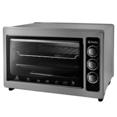 Мини печь   Духовка электрическая 1300 Вт 37 л DELTA D-0123 серая