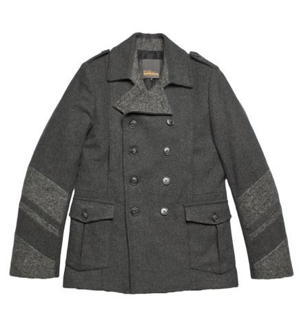 Пальто Imperial серое утепленное