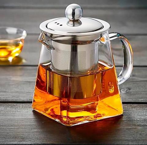Чайник заварочный стеклянный квадратный 550 мл