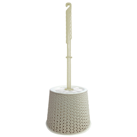 Ершик для унитаза Svip напольный с подставкой из пластика цилиндрический бежевый