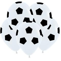 S 12 Футбольный мяч, Белый Пастель / 50шт. /