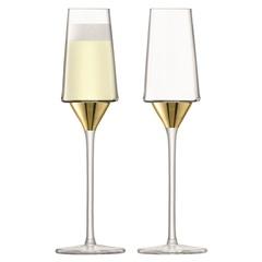 Набор из 2 бокалов-флейт для шампанского Space, 210 мл, золото, фото 1