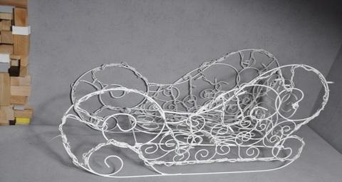 Уличная Фигура сани декоративная из гирлянд конструкция саней