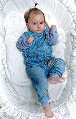 Папитто. Комплект кофточка и штанишки с птичкой для девочки FASHION JEANS вид 2