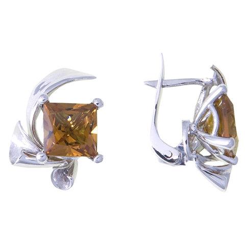 Серьги из серебра с султанитоми Арт.2131с