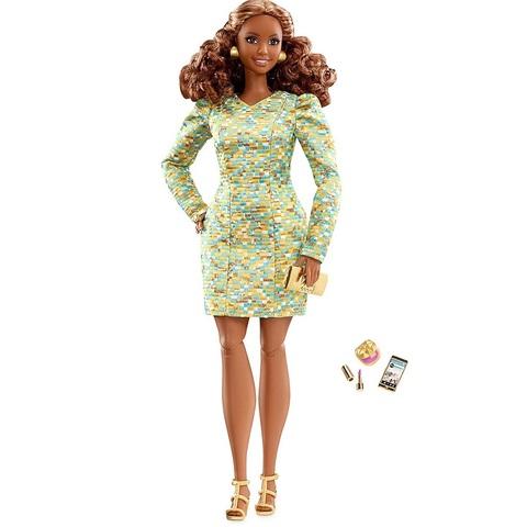 Барби The Look Луковка в Платье Металлик