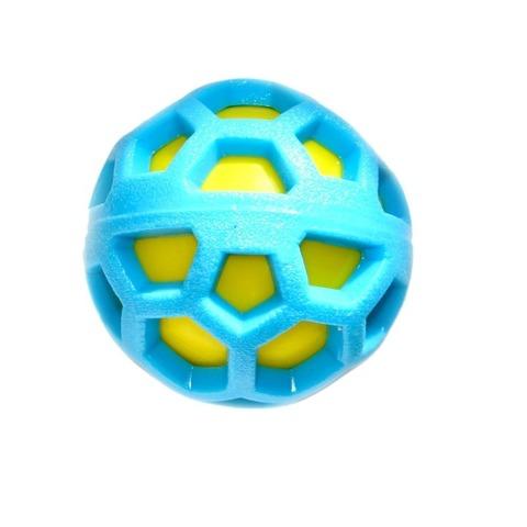 NEMS игрушка резиновый мяч двойной с пищалкой 7,6 см