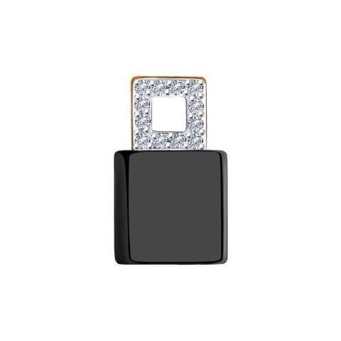 6035068 - Подвеска из золота с бриллиантами и керамической вставкой