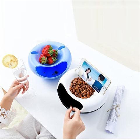 Блюдо для семечек и подставка для телефона