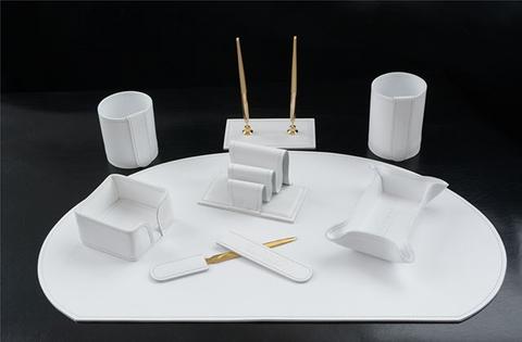 Накладка на стол -Бювар из кожи cuoietto, Модель 11.