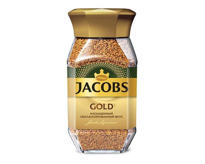 Кофе растворимый Jacobs Gold, 95 г стеклянная банка