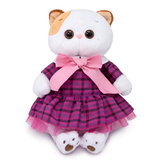 Кошечка Ли-Ли в платье в клетку