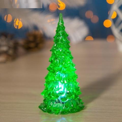 Игрушка световая Ёлочка зелёная 6 см × 6 см × 13 см