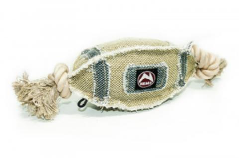 NEMS игрушка для собак мяч регби джинсовый на канате большой 34см