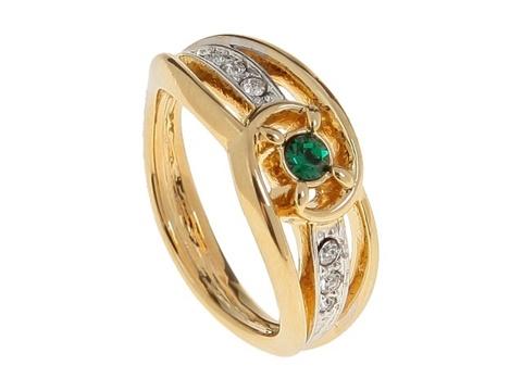 Кольцо с позолотой Иорас