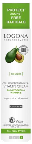 LOGONA Витаминный крем для клеточного восстановления кожи 24 ч с Био-Авокадо и Витамином E