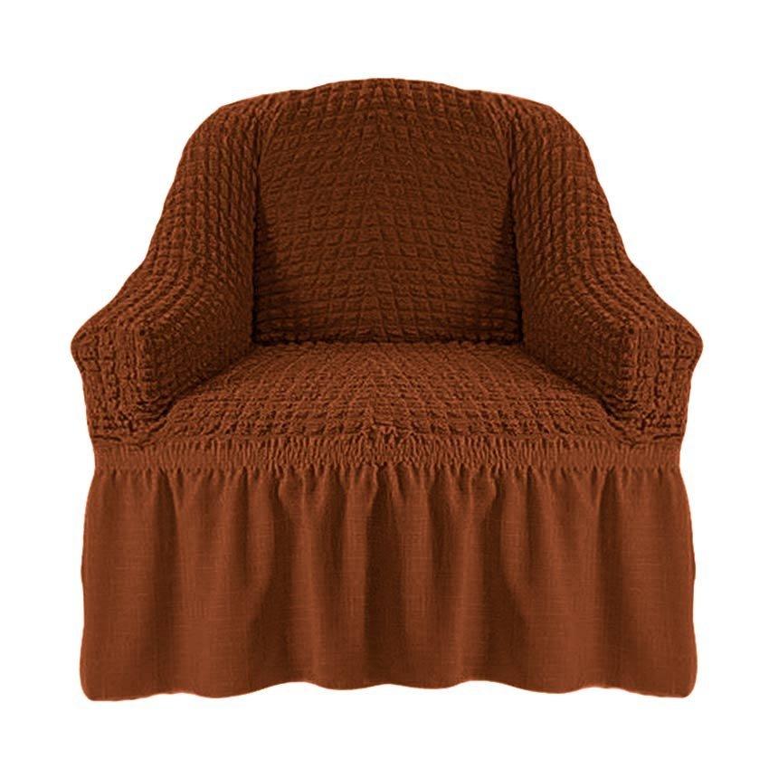 Чехол на кресло, коричневый