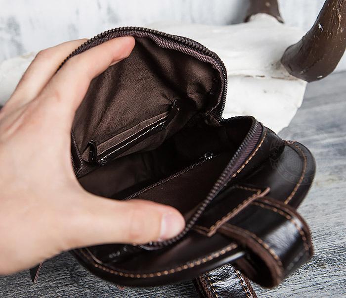 BAG420-2 Крутая мужская сумка из кожи с одной лямкой фото 12