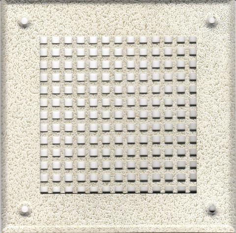 Решётка 210*250 белый антик, большая клетка