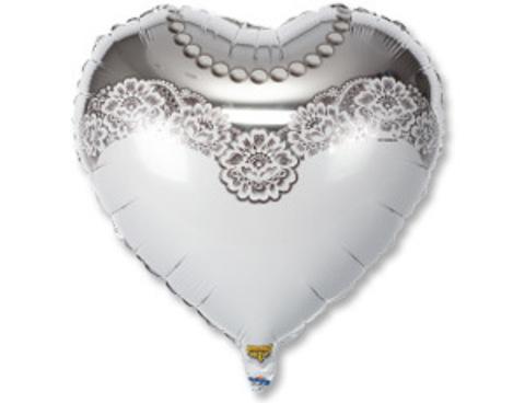 Фольгированное сердце Невеста
