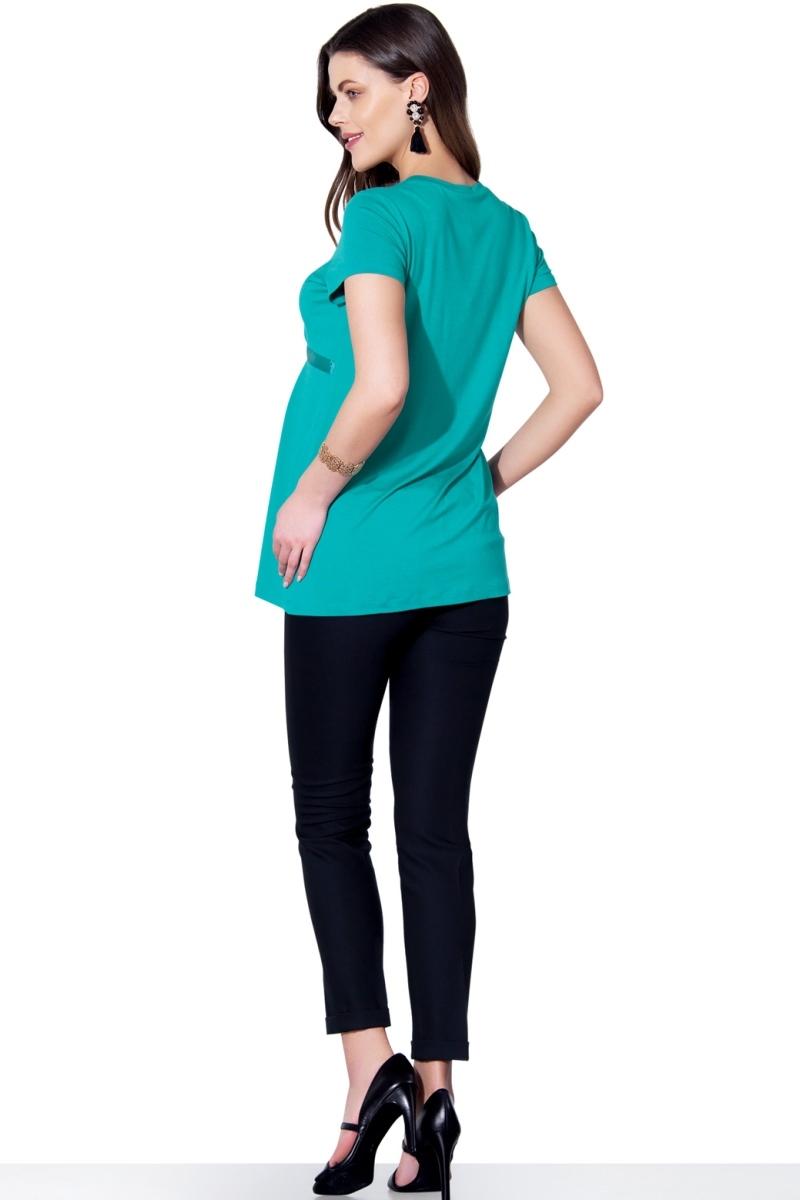 Блузка для беременных 01390 зеленый