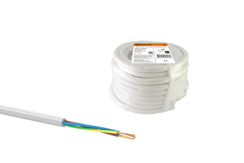 Провод ПВС 4х1 ГОСТ (30м), белый TDM