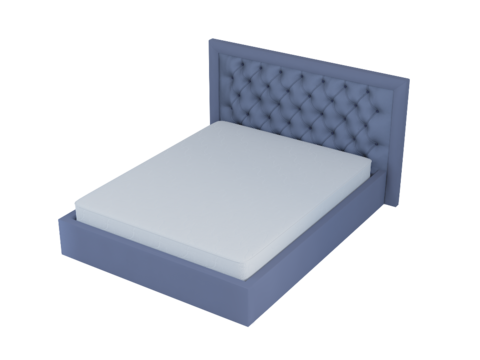 Мягкая двуспальная кровать Лондон с мягким изголовьем и подъемным механизмом