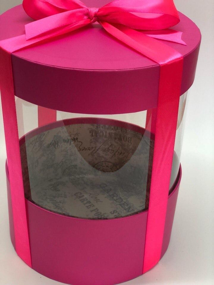 Коробка аквариум 16 см Цвет : Фуксия. Розница 350 рублей .