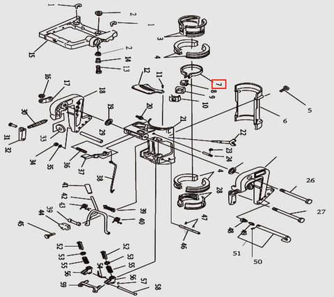 Хомут для лодочного мотора T9.8 Sea-PRO (11-7)
