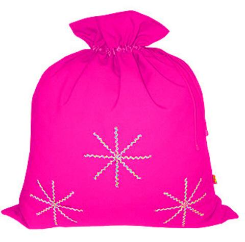 Розовый мешок со снежинками