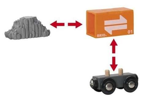 BRIO Портовый мостовой кран с кабиной и вагончиком с грузом
