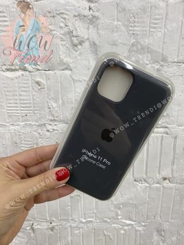 Чехол iPhone 11 Silicone Case /charcoal grey/ уголь 1:1