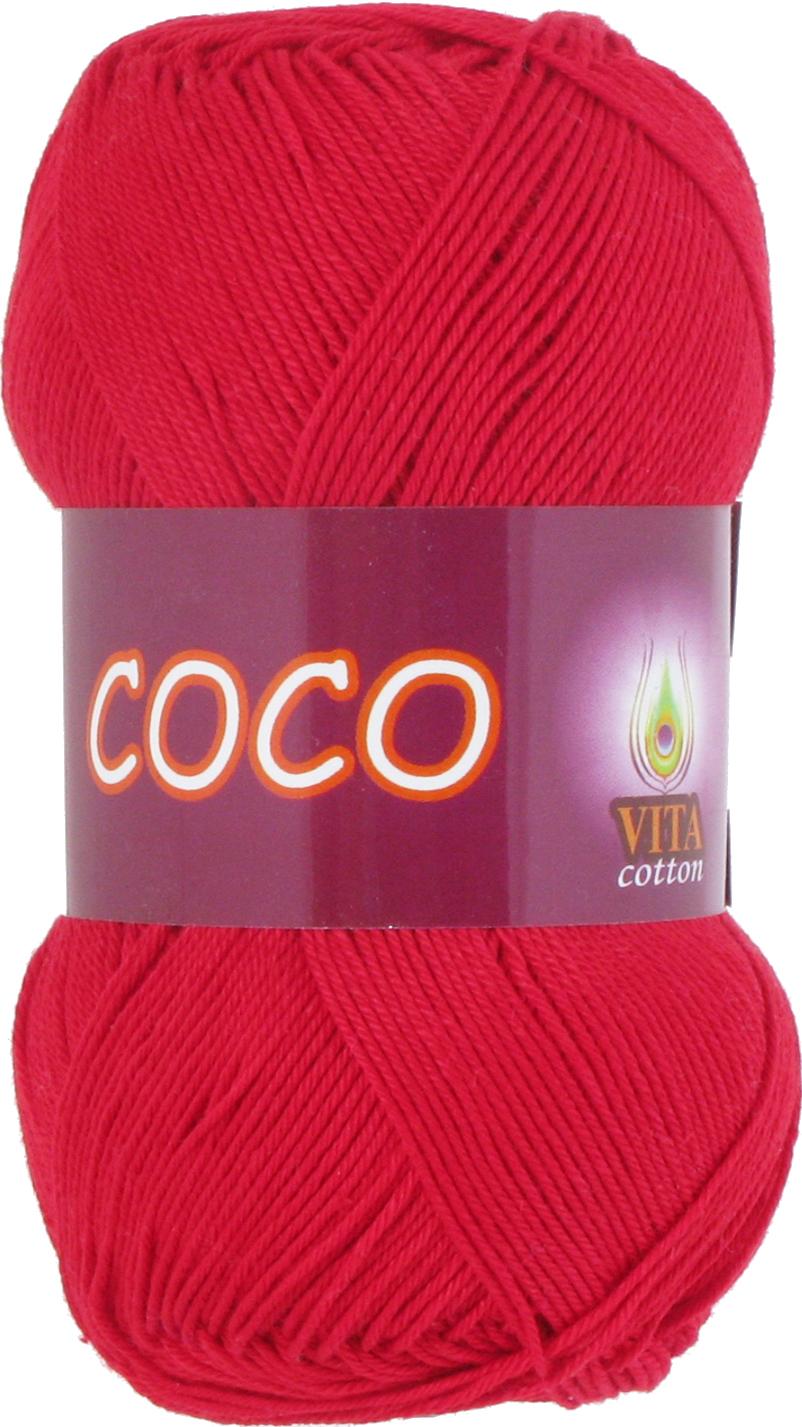 Пряжа Vita Coco 3856 красный