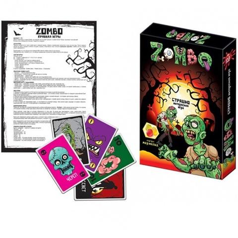СЗН Мармелад жевательный с Карточной игрой ZOMBO Зомбо 1кор*4бл*8шт, 40г.