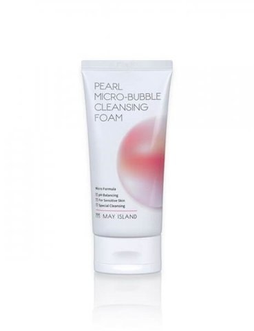 MAY ISLAND Pearl Micro-Bubble Cleansing Foam Пенка для умывания  120мл