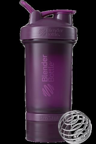 BlenderBottle ProStak, 650мл Шейкер с 2мя контейнерами, таблетницей и пружиной фиолетовый сливовый