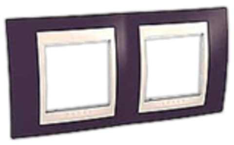 Рамка на 2 поста. Цвет Гранат/Белый. Schneider electric Unica Хамелеон. MGU6.004.872