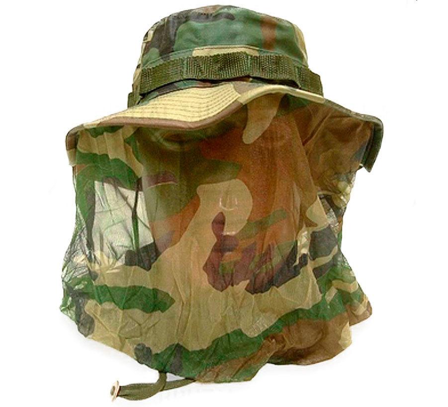 Шляпа Rothco Boonie с москитной сеткой (камуфляж)