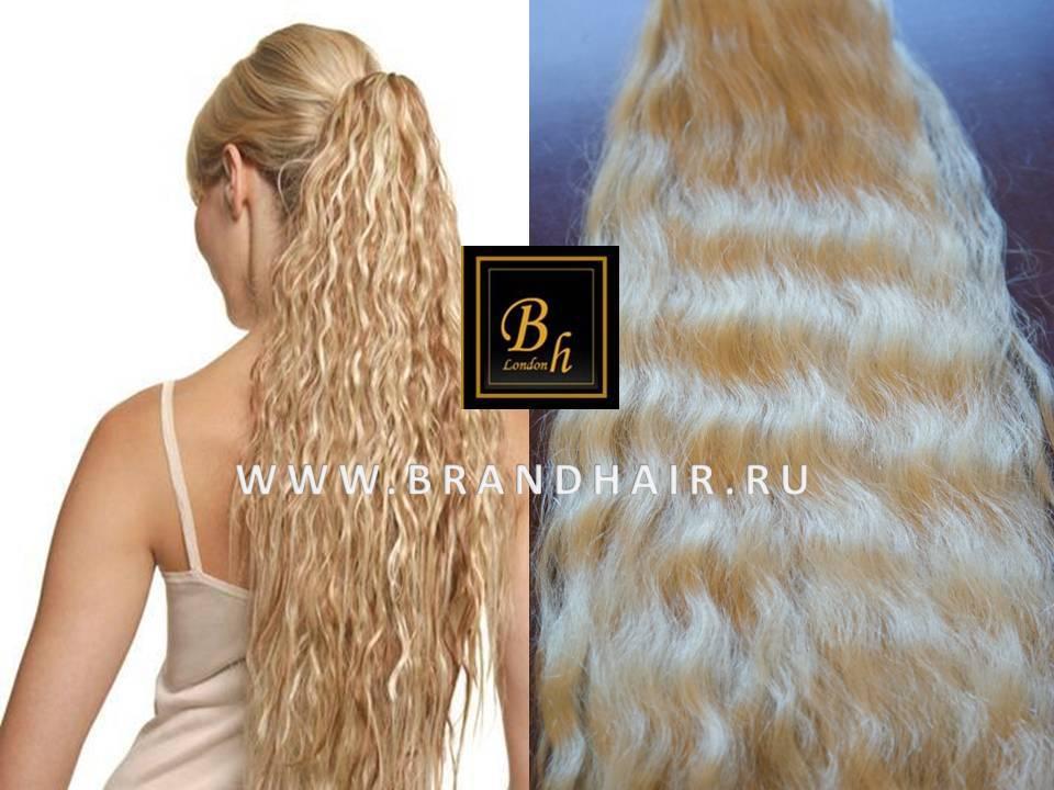 Шиньон из натуральных волос накладной оттенок 613 блонд-52CM