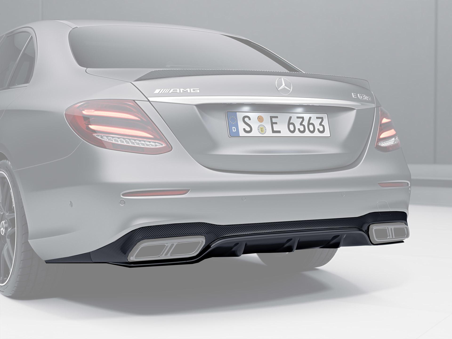 Карбоновый диффузор   для Mercedes E43/53 AMG W213