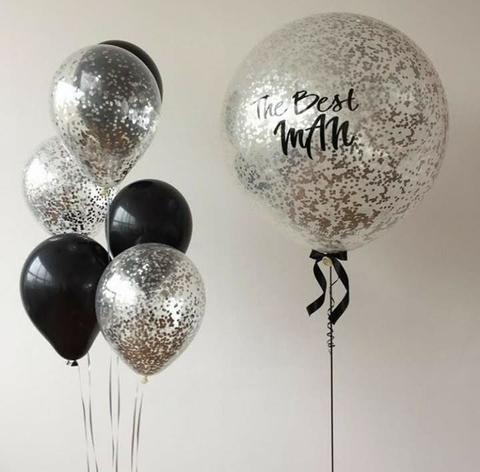 Композиция из шаров с индивидуальной надписью №5