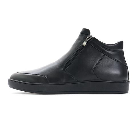 Зимние ботинки на натуральном меху vorsh v921rm черн кожа купить
