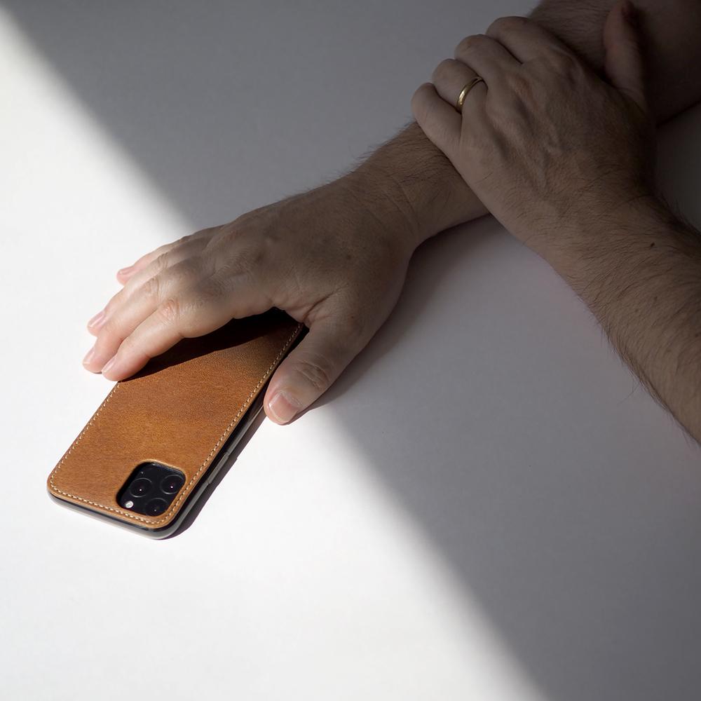 Чехол-накладка для iPhone 11 Pro из натуральной кожи теленка, цвета винтаж