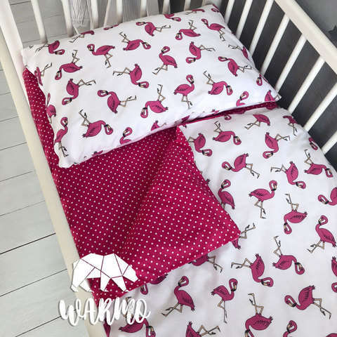 Дитяча постіль з рожевими фламінго фото