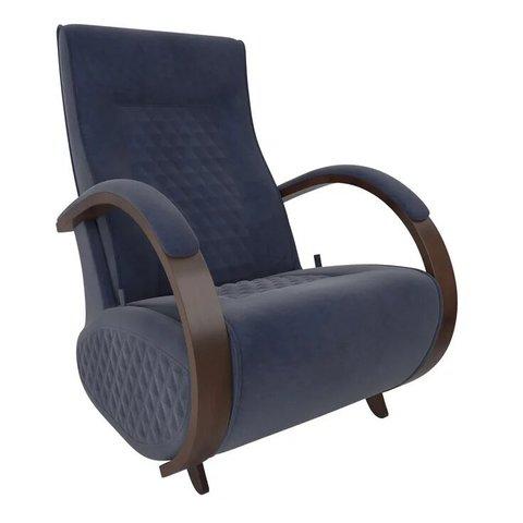 Кресло-глайдер Balance Balance-3 с накладками, орех/Verona Denim Blue, 014.003