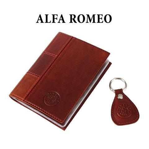 Обложка для водительского удостоверения с брелком «ALFA ROMEO»