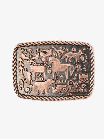 Forest fairytale buckle color old copper