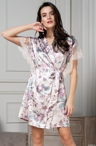 Короткий халат Mia Amore 3543 (70% нат.шелк)