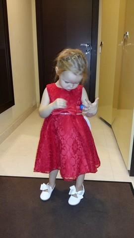 Красное платье из гипюра (арт. CB1291)
