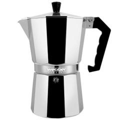 Гейзерная кофеварка 450 мл на 9 чашек алюминиевая WEBBER BE-0123